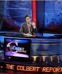 Colbert Report를 진행하는 Colbert