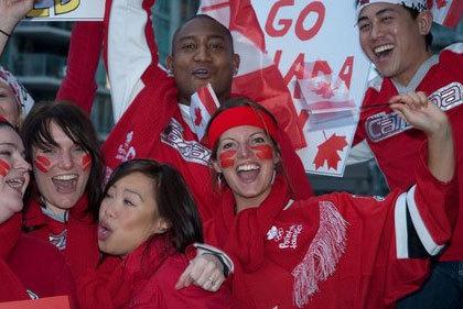 열정으로 응원하고 있는 사람들