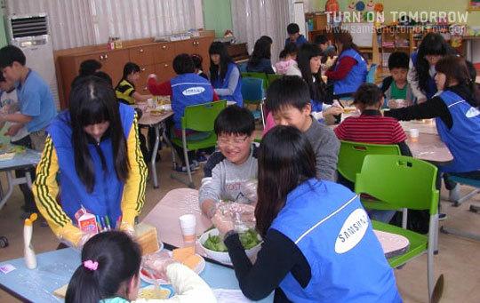 어린 학생들을 위한 요리교실