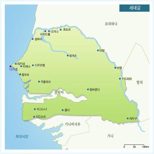 세네갈 지도