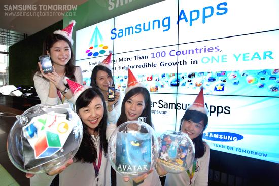 삼성앱스 행사 도우미들