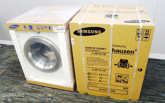 삼성전자 드럼세탁기 수축포장