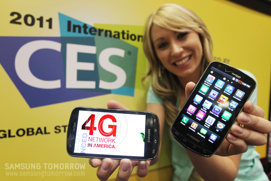 삼성전자가 CES2011에서 공개한 '삼성 4G LTE 스마트폰'