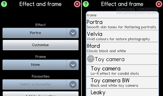 Vignette, Velcia, Toy camera, cinematic 등 다양한 기능들이 숨겨져 있다.