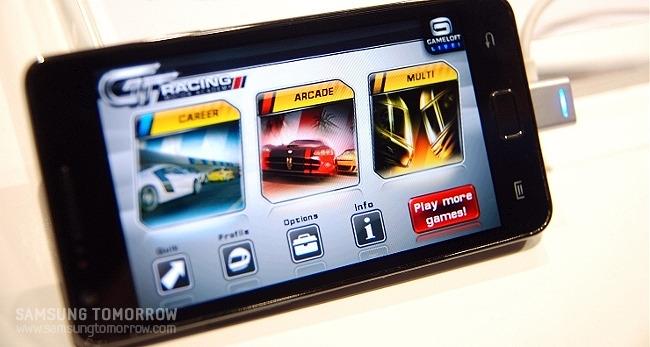 삼성 갤럭시S2 게임 어플 실행 화면