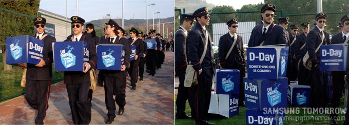 행사 당일, 이벤트를 준비중인 군인들의 모습