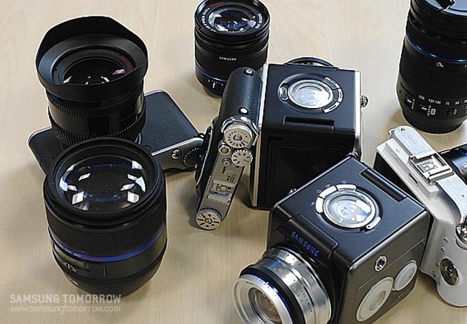 카메라와 카메라 렌즈들