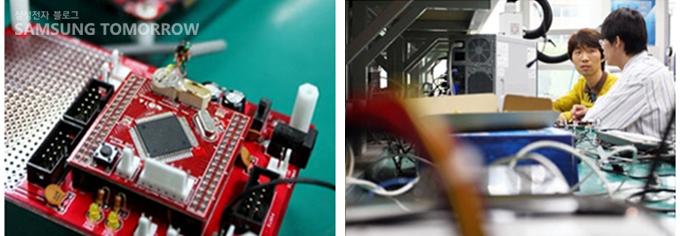 스마트폰 부품을 만드는 작업실