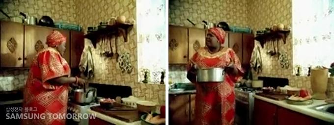 요리를 하고 있는 모습