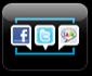 소셜 네트워크라는 어플리케이션 아이콘