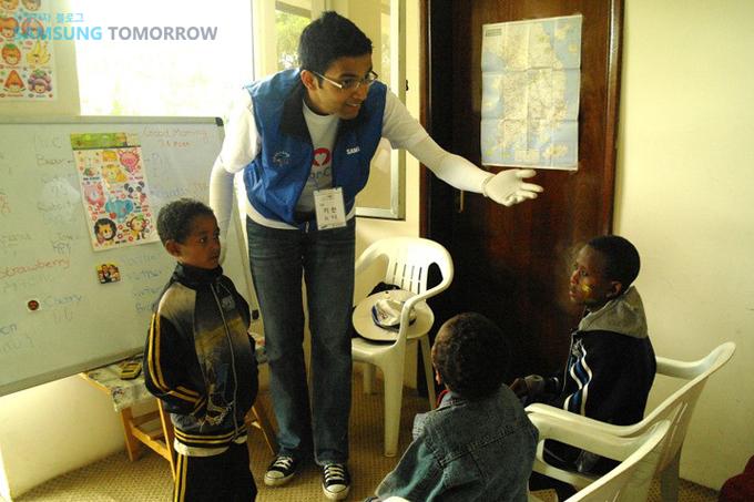 영어를 가르치는 자원봉사자
