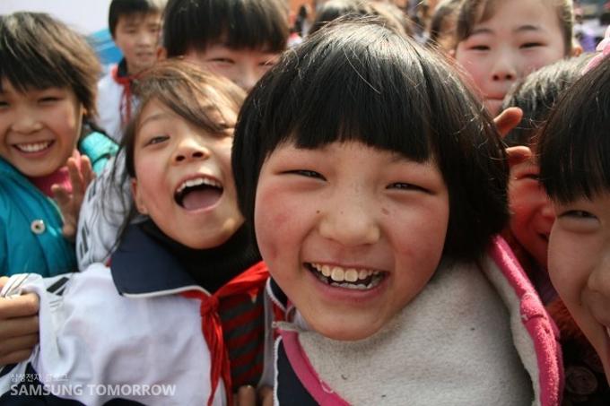 즐거워하는 아이들의 모습
