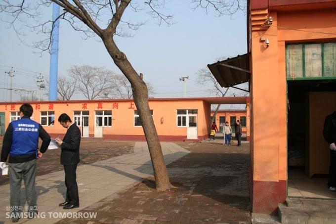 중국 명성학교의 전경