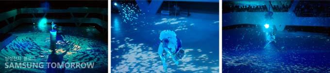 삼성관에서 펼쳐지는 공연의 한 장면