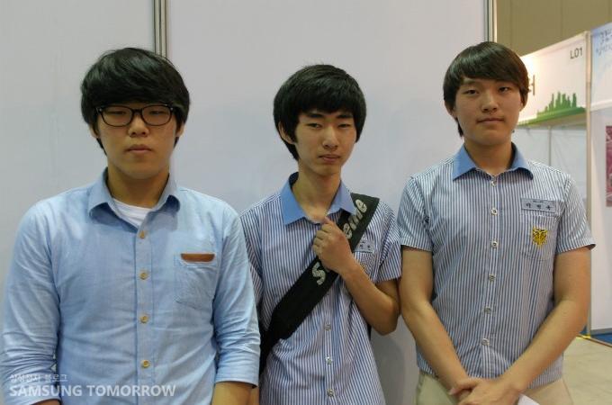 영등포공고 3학년 이원재(맨 왼쪽)