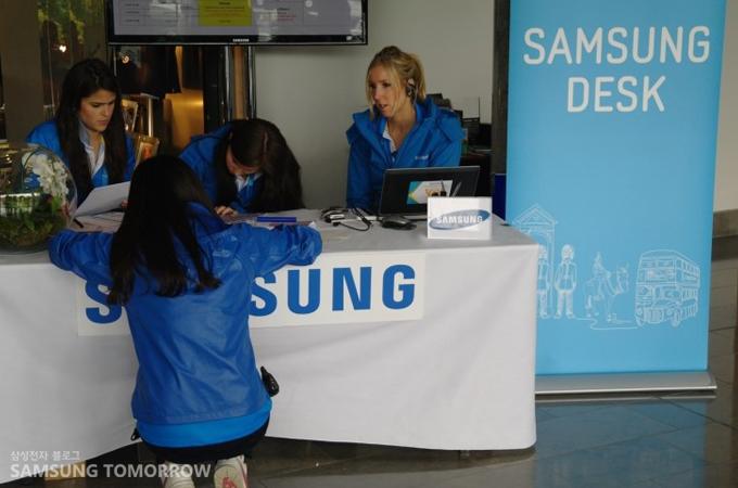 삼성 데스크의 모습