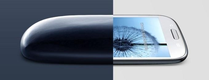 조약돌과 갤럭시S3 디자인 이미지