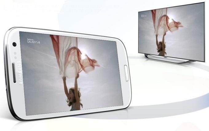 스마트폰과 모니터를 공유해서 볼수 있는 올쉐어 기능