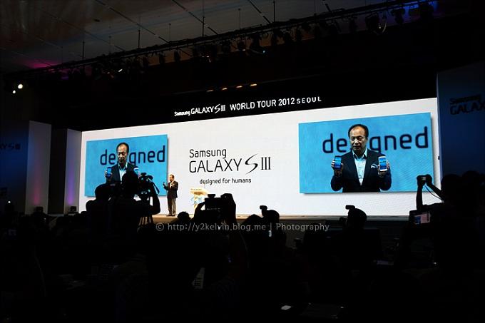 갤럭시S3 미디어데이 제품발표 모습