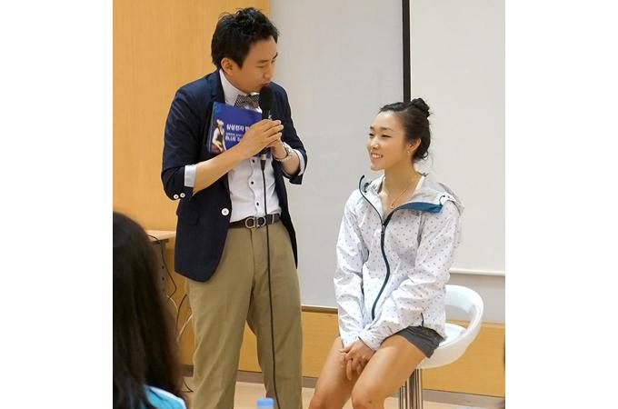김자인 선수와 MC