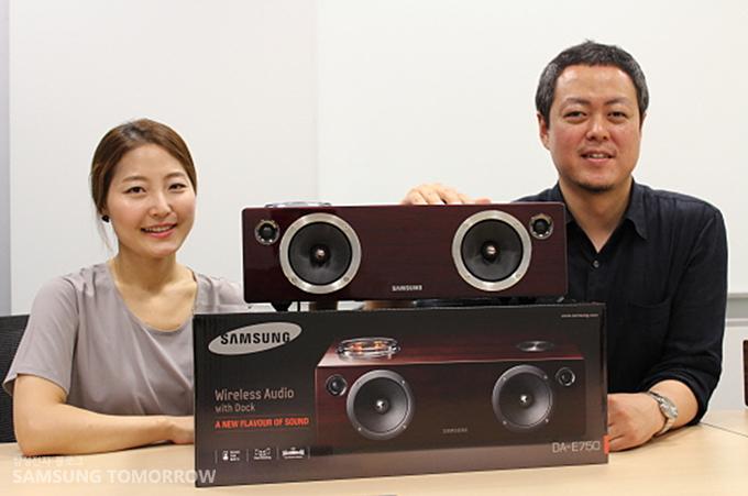 무선 도킹 오디오 시스템 'DA-E750'와 손지영 사워  김지광 책임