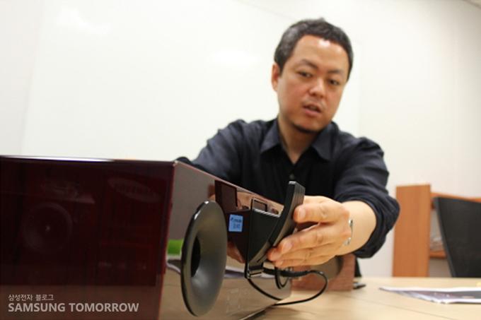 무선 도킹 오디오 시스템 'DA-E750'와 김지광 책임