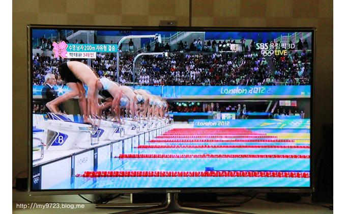 3D영상으로 나오는 수영경기