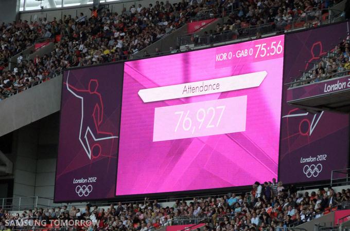 총관중 76,927명!