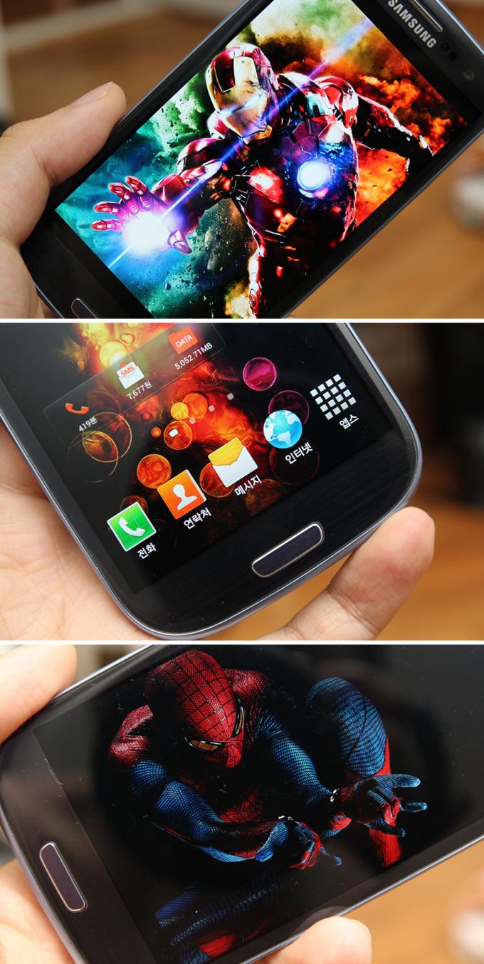 갤럭시SⅢ LTE 제품의 잠금화면