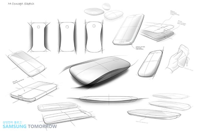 갤럭시S3 스케치 디자인