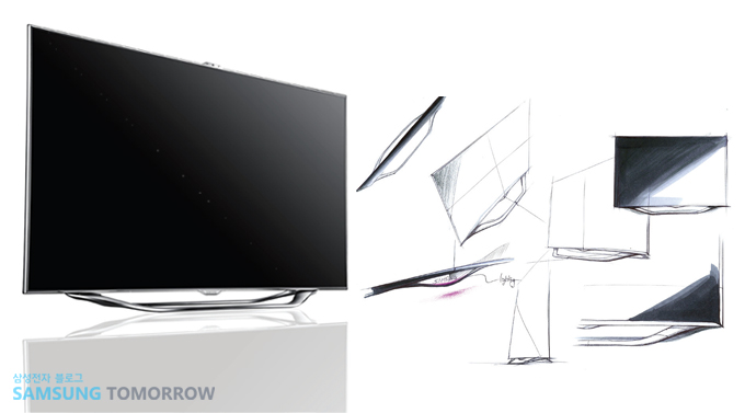 ES8000 스마트 TV 디자인 스케치