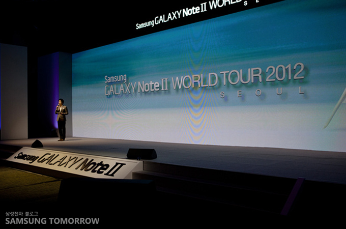 SAMSUNG GALAXY NoteⅡ WORLD TOUR 2012 SEOUL 행사