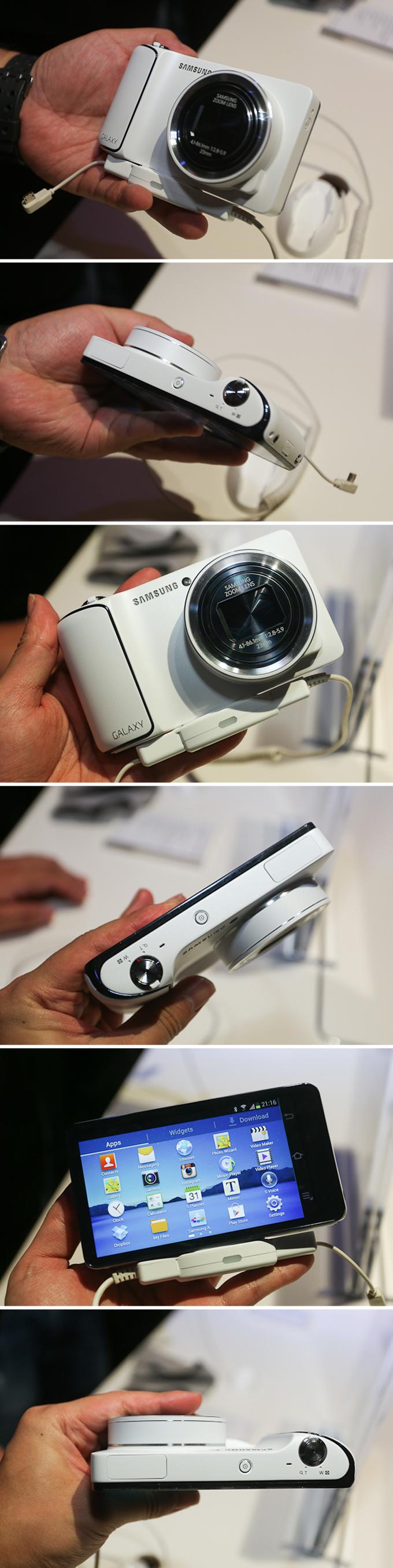 다양한 각도에서 살펴본 갤럭시 카메라
