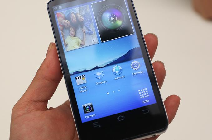 삼성 갤럭시 카메라의 화면, 통화, 메시지 아이콘이 없다