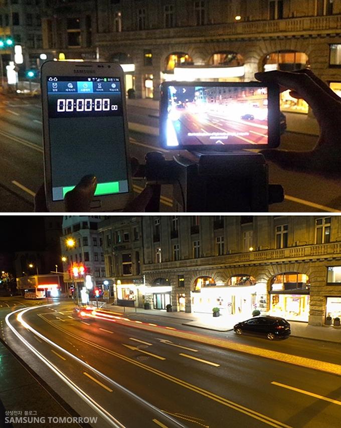 갤럭시 카메라와 초를 재려는 갤럭시노트, 갤럭시 카메라로 찍은 독일의 야경