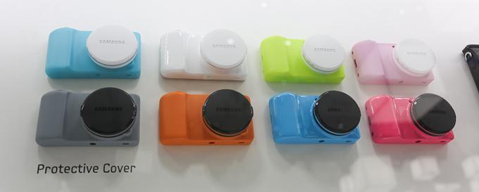다양한 색깔의 갤럭시카메라 케이스