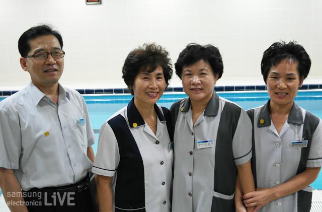 삼성트레이닝센터의 스탭들
