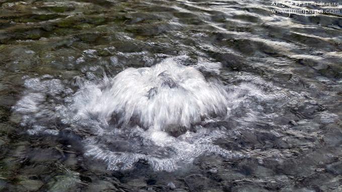 폭포모드로 찍은 물줄기