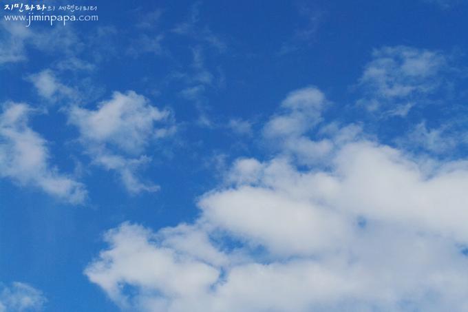 블루스카이모드로 찍은 하늘