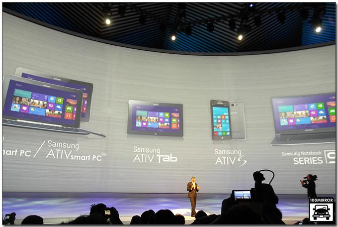 ATIV 스마트PC Pro와 ATIV탭 발표모습