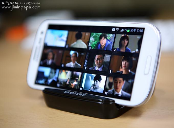 삼성 갤럭시S3의 챕터 미리 보기 기능