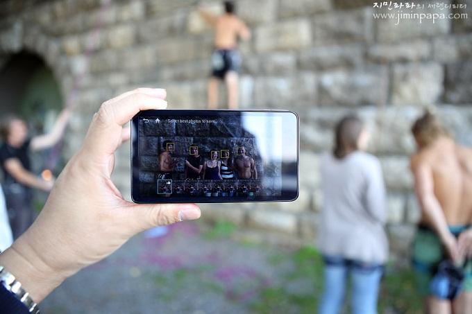 카메라가 사람의 얼굴을 인식화는 화면