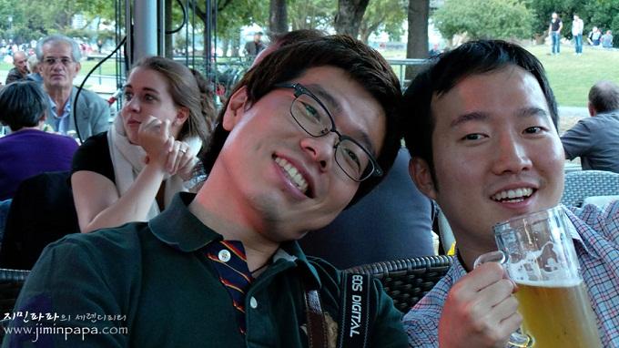블로거와 친구를 찍은 사진