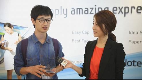 GALAXY NOTE II 미디어데이 현장, 관람객과의 인터뷰