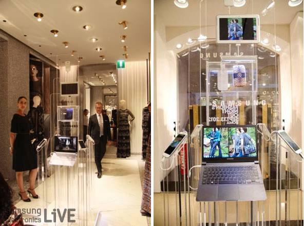 전시된 Galaxy S III와 노트북 9시리즈