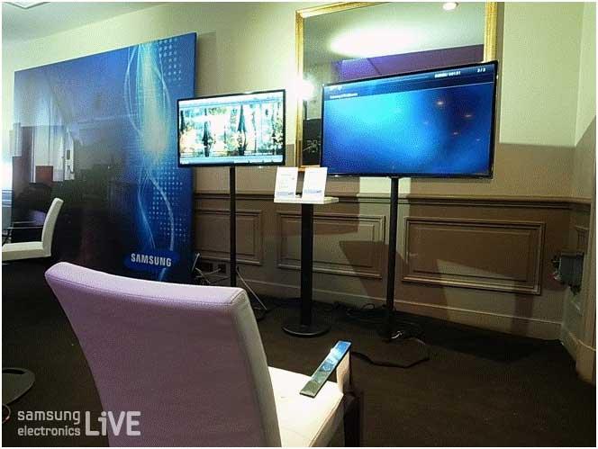 전시된 TV들의 모습