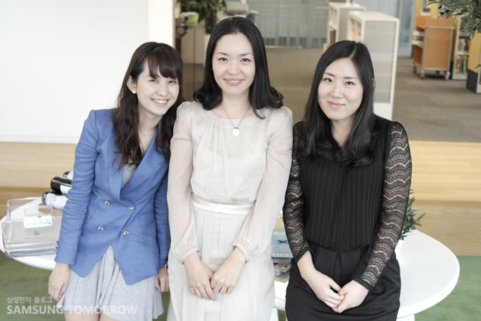 왼쪽부터 생활가전 디자인 그룹 이선민 사원, 최은하 책임, 박명희 선임