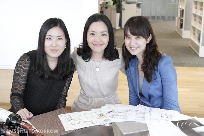 왼쪽부터 박명희 선임, 최은하 책임, 이선민 사원