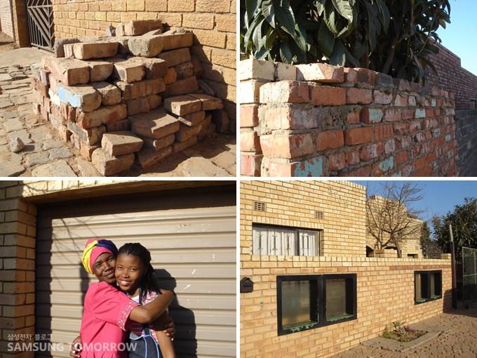 아버지가 가져온 버려진 벽돌들을 엄마가 씻어 모아 쌓아서 만든 집