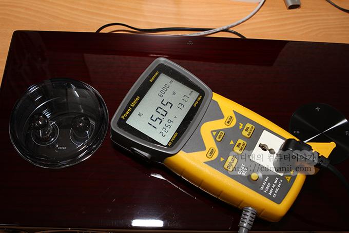 대기시 소모전력, 15.05W를 기록